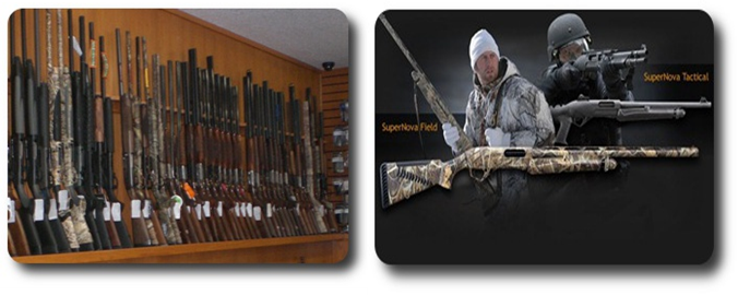 Shotgun page header image-insotre shotgun rack and Benneli shotgun graphic